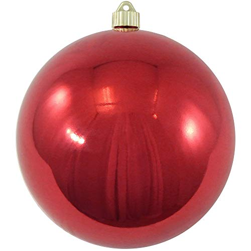 Christmas by Krebs KBX14004 Shatterproof Christmas Ball Ornament, 8-Inch, Sonic Red