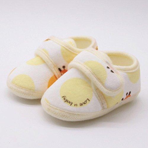 Huhu833 Kinder Mode Junge Mädchen Schuhe weiche Sohle Krippe Kleinkind  Neugeborene Schuhe Gelb ...
