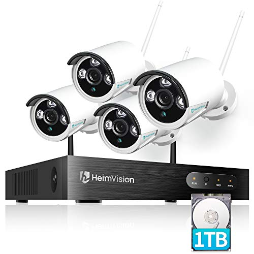 HeimVision HM241A 1080P Wireless Security Camera System with 1TB Hard Drive, 8CH NVR 4Pcs Outdoor WiFi Surveillance…