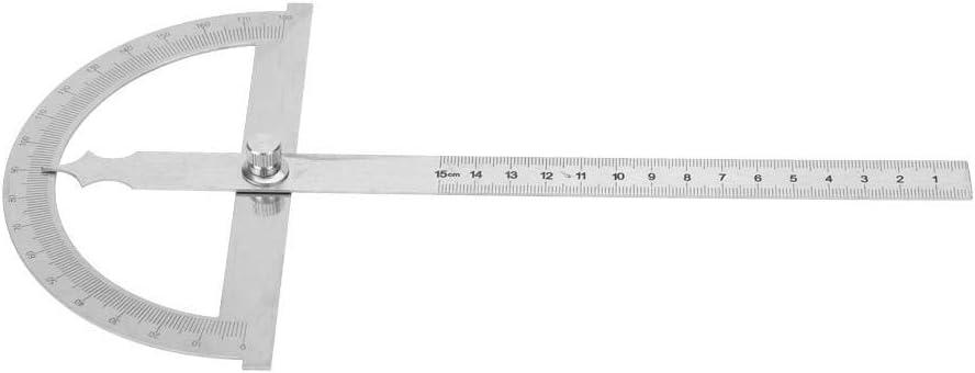 Goniometro in acciaio inox Goniometro 15 cm Righello Strumento di misurazione regolabile con angolo di rilevamento di 180 gradi 120 * 150mm