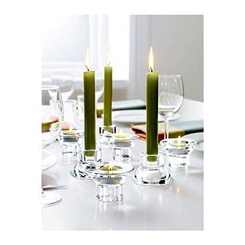 Ikea Kerzen Im Glas amazon de ikea neglinge kerzen oder teelichthalter aus glas 5 cm