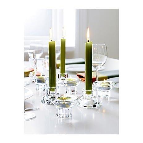 ikea neglinge glass set of 8 tea light holder candle stick holder duel function