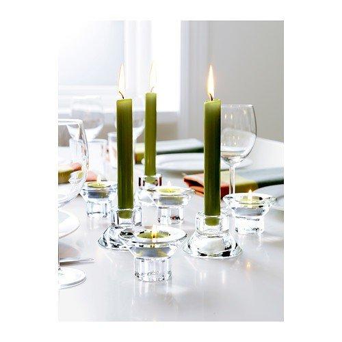 Design Candle Holder Set - Ikea NEGLINGE Glass (Set of 8) Tea Light Holder Candle Stick Holder Duel Function 2