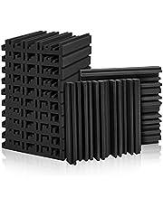 Juego de 12 paneles de espuma acústica para estudio, paneles de absorción de sonido, 5 x 30 x 30cm