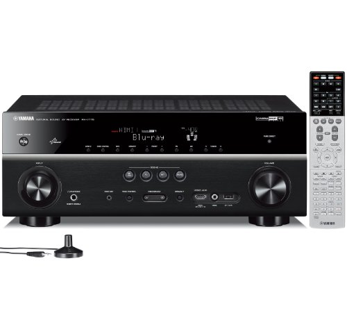 Yamaha rx v775wa 7 2 channel network av receiver with for Yamaha tv receiver
