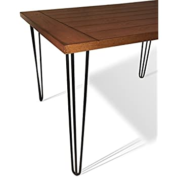 the craftsman s hammer 28 hairpin table legs slate black 3 rod rh amazon com hairpin table legs home depot hairpin table legs for sale