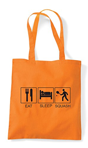 Tote Squash Sleep Bag Orange Shopper Hobby Tiles Eat Activity Funny qY05qn4