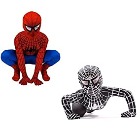 - 41xhgLVyubL - Kids Spiderman Costume Child Superhero Cosplay Elastic Jumpsuit Amazing Spandex Zentai Suit Halloween Boys Costumes