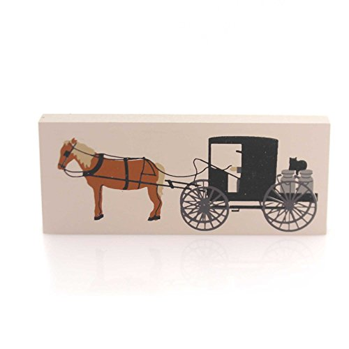 CATS MEOW VILLAGE AMISH MILK WAGON Wood Accessory Retired 232 Cm