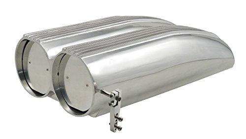 (Mr. Gasket 8008MRG Shotgun Style Double Barrel Hood Scoop)
