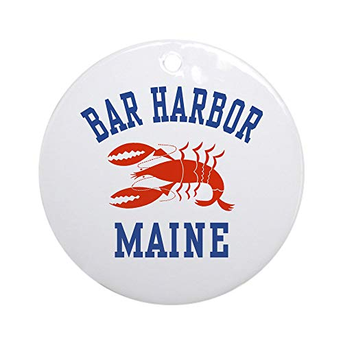 - CafePress Bar Harbor Maine Ornament (Round) Round Holiday Christmas Ornament
