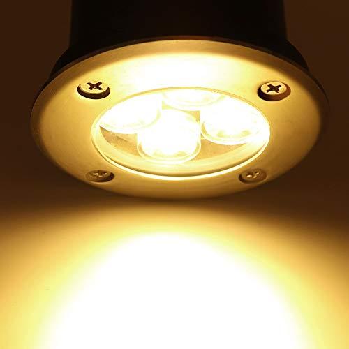 LED Landscape Lights, Sunriver 4W Low Voltage Well Lights IP67 Waterproof Outdoor In-ground High Bright Landscape Lights with Transformer 12V 24V Yard Spotlight (6 Pack, Warm White) by SUNRIVER (Image #5)