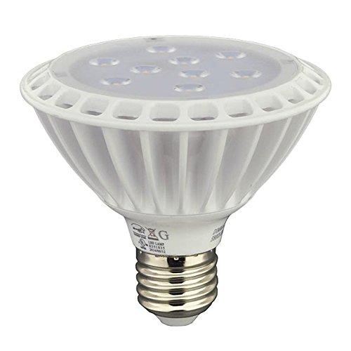 LEDwholesalers UL-Listed PAR30 LED Spot Light Bulb with Interchangeable Flood Lens 11-Watt Short Neck, Warm White, (Par30 Long Neck Spot)