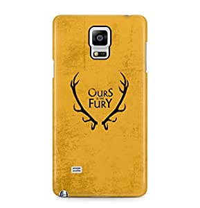 Game Of Thrones Ours Is The Fury House Baratheon Hard Plastic Phone Case Cover For Samsung Galaxy Note 4
