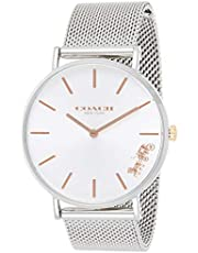 Coach Women's Perry 36mm Dial Stainless Steel Silver Mesh Metal Bracelet Strap Quartz Watch 14503124