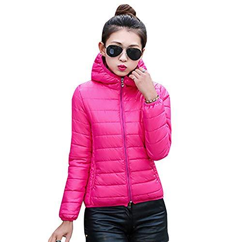 Giacca Trapuntato Moda Cappotto Giacche Xfentech Caldo Rosso Corto Rose Donna Addensare Cappuccio Inverno Con Imbottito Piumino 1PBqa