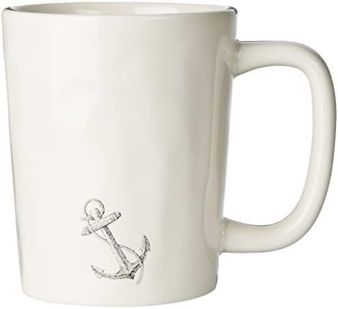 Life is good Artisan Engraved Anchor Mug (Simply Ivory)