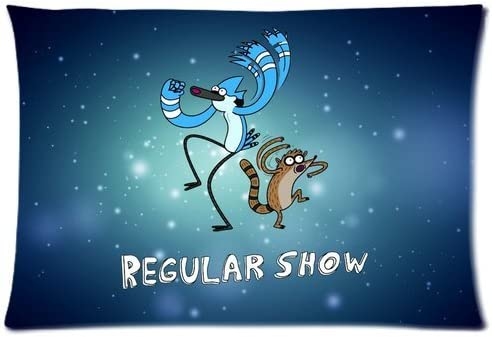 DiyCaseStore Popular cartoon regular show Mordecai and Rigby Zippered Pillow Cases 20×30 Twin sides