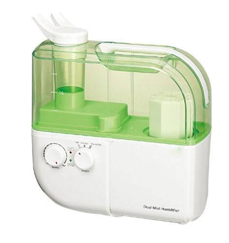 SPT Sunpentown Home Living Room Appliance Dual-Mist Ultrasonic Humidifier Warm And Cool - Green