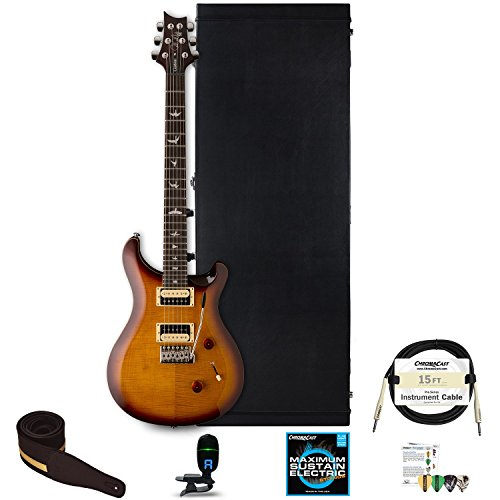 PRS SE Custom 24 Electric Guitar with Hard Case and Accessories, Tobacco Sunburst
