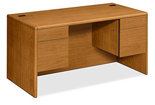 Height Left Pedestal Credenza - HON 10771CC 60w x 30d x 29 1/2h Harvest 10700 Series Desk 3/4 Height Double Pedestals, Harvest