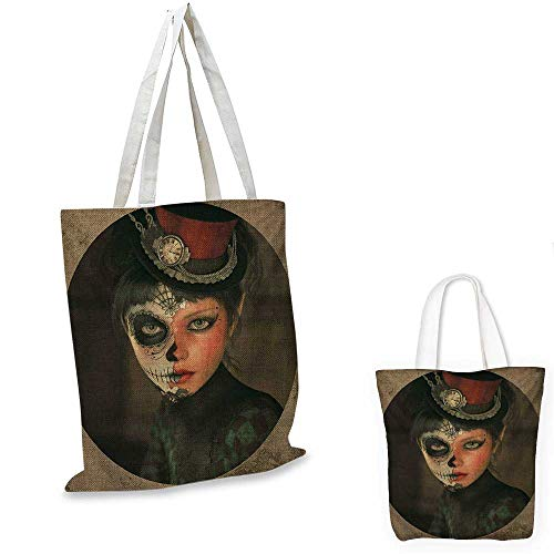 Sugar Skull Portable Shopping Bag Antique Portrait for sale  Delivered anywhere in Canada