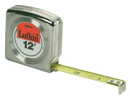 Lufkin W9312D Mezurall Engineer's  Power Return Tape, 3/4-Inches Wx12-Feet, Chrome plated