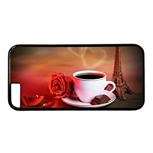 """Lilyshouse Rose,Coffee,Eiffel Tower Hard Shell with Black Edges Cover Case for Iphone 6 Plus(5.5"""") by ruishername"""