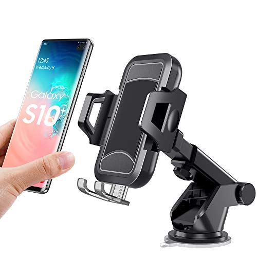 - itaomi [Adjustable] Car Phone Mount, Dashboard Windshield Air Vent, Cell Phone Holder for Car with Vent Clip & Dashboard Pad, Strong Sticky Suction Car Cradle, Compatible 3.5