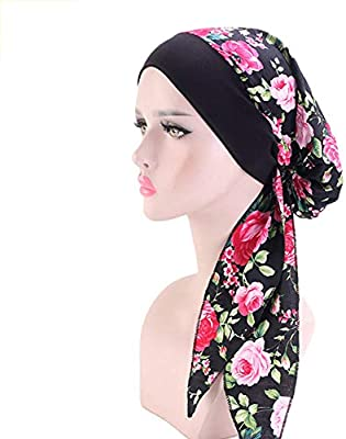 Diadema de algodón elástico para mujer con diseño de pañuelo para la cabeza, turbante, gorro, gorro, gorra 6#: Amazon.es: Belleza