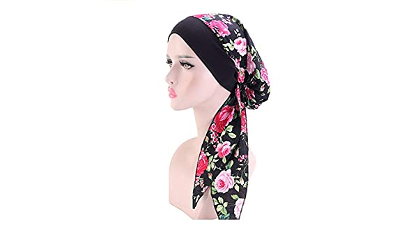 Diadema de algodón elástico para mujer con diseño de pañuelo para ...