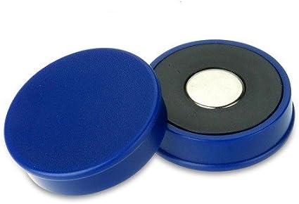 weiß Büromagnet Ø 18 mm x 8 mm Neodym 10 x Pinnwandmagnete hält 1kg