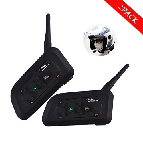 Sets 1200M 6 Riders Interphone Bluetooth Motorcycle Helmet Intercom Headset - 8