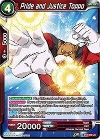 Amazon.com: Dragon Ball Super TCG - Pride and Justice Toppo ...