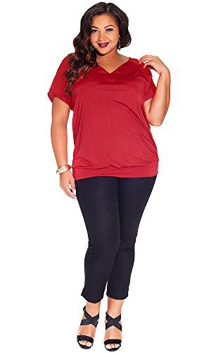 IGIGI Women's Plus Size Divina Top in Rouge 22/24