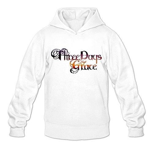Price comparison product image Geek 3 Three Days Grace Life Starts Now Men's Hooded Hoodies White Size XXL