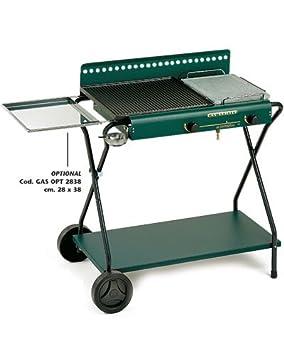 6233b531c5 Barbecue a Gas Doppia Piastra Carrello cm 68x40x76 Ompagrill: Amazon ...
