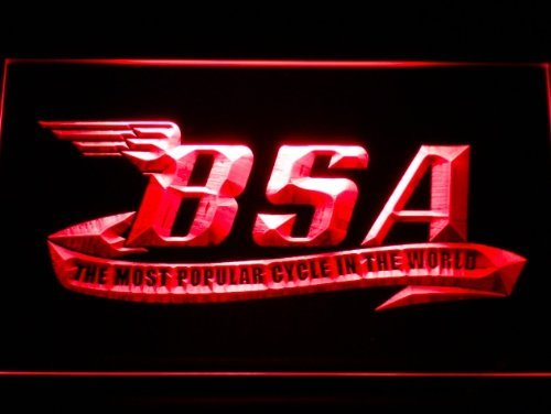 BSA Motorcycles Cycle LED caracteres Publicidad Neon Cartel ...