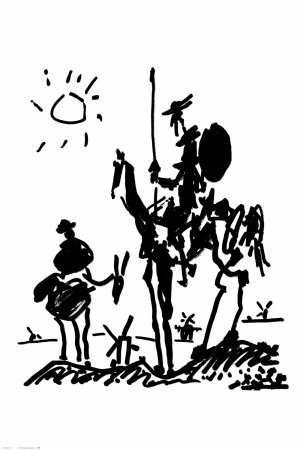 Don Quixote Poster by Pablo Picasso 24 x 36in