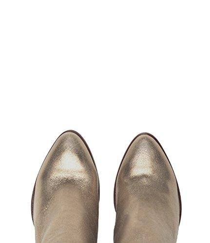 PoiLei Stella - Damen Schuhe / Sommer-Stiefelette - Ankle Boot mit Trichterabsatz gold