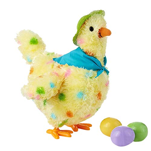 (TOOGOO A Hen Funny Chicken Toy Hen Hen Laying Egg Shocked Joke Gift Child Anti-Stress Gadget Fun Game Indoor Or Outdoor)