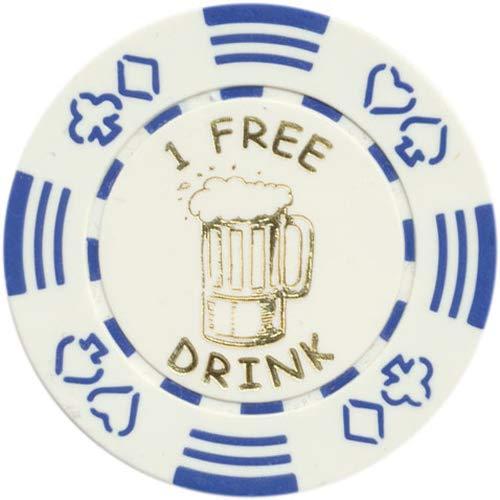 (Spinettis 100 FREE DRINK POKER CHIPS TOKENS FOR RESTAURANTS OR BAR - BEER MUG)