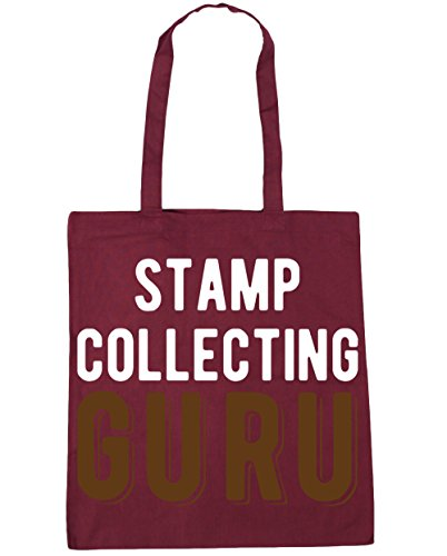Borsa Da Collezione Guru Shopping Guru Shopping Bag Borsa Da Spiaggia 42cm X38cm, 10 Litri - Bordeaux, Taglia Unica
