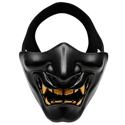 Half Face Mask - IronMount Halloween Masks for Christmas, Cosplay, Costume Party, Hunting, Shooting, CS Game (Half Mask Halloween Costumes)