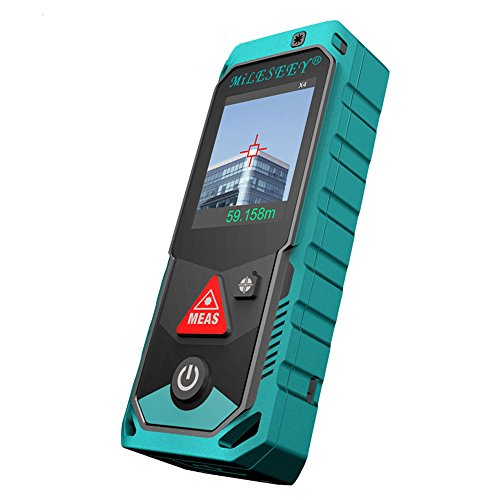 Mileseey P7 80M 100M 150M 200M Bluetooth Laser Rangefinder with Rotary Touch Screen Rechargerable Laser Meter (80M)