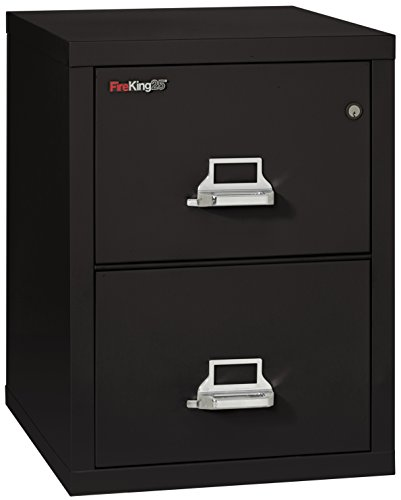 King Size Cabinet - FireKing Fireproof Vertical File Cabinet (2 Letter Sized Drawers, Impact Resistant, Waterproof), 27.75