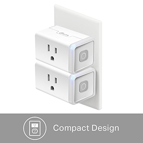 Kasa Smart Plug Lite (2-Pack) by TP-Link - No Hub Required, Wi-Fi, Works with Alexa, Google Assistant, IFTTT, Control Your Devices From Anywhere (HS103P2) by TP-Link (Image #1)