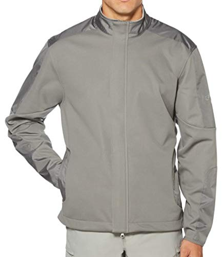 Callaway Men's Opti-Therm Long Sleeve Wind & Water-Resistant Soft Shell Jacket, Medium, Quiet Shade