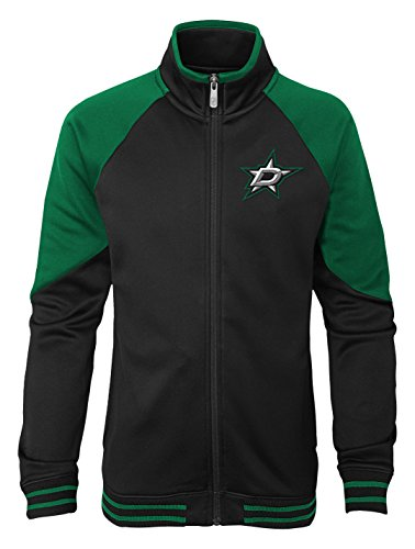 Black Nhl Jacket - Outerstuff NHL Dallas Stars Youth Girls Faceoff Full Zip Jacket, Small(7-8), Black