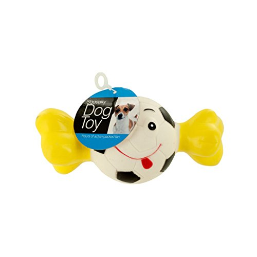 Bulk Buys Squeaky Sports Ball with Bone Dog Toy Pack of 24